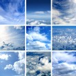 Stock Photo: Different types of clouds