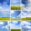 Different types of clouds - Stock Photo