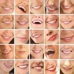 collage, faite de nombreux sourires différents — Photo