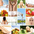 Health collage - Stock Photo