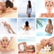 Spa composition of some beautiful pictures — Stock Photo