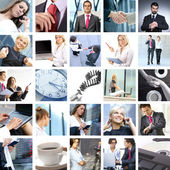 Business collage — Stock fotografie