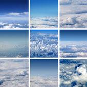 аэрофотоснимок неба — Стоковое фото