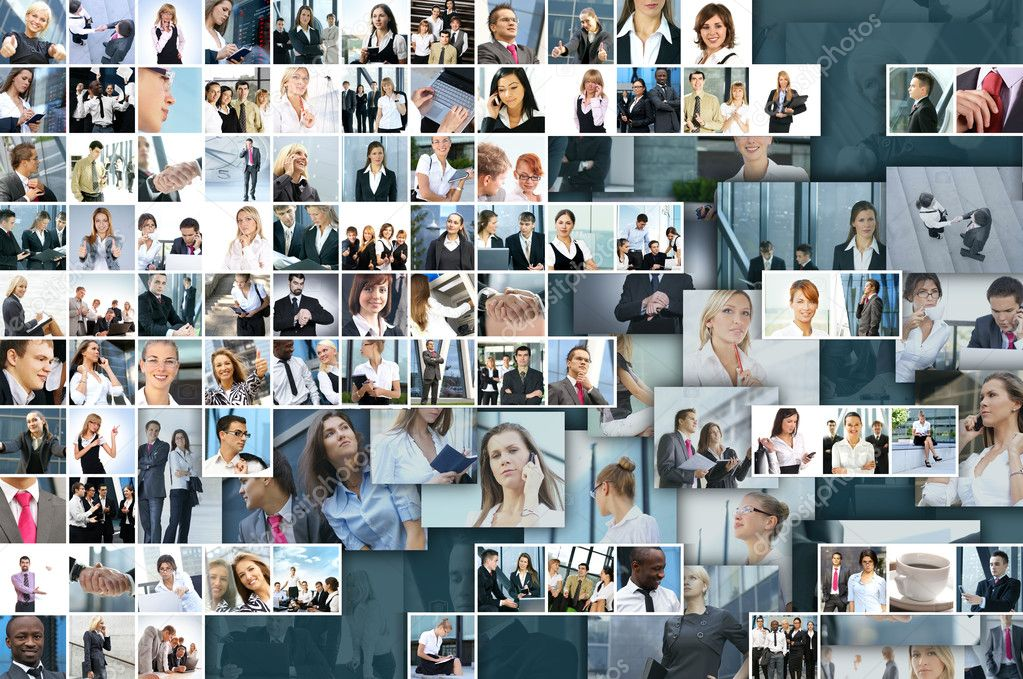 Business collage made of many business pictures  Stock Photo #15037113