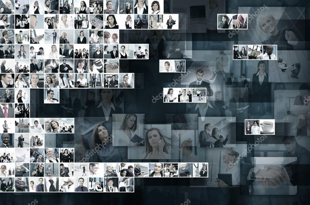 Business collage made of many business pictures — Stock Photo #15037321