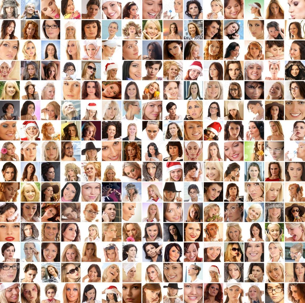 Many different female portraits over different backgrounds. You can find here 225 photos. — Stock Photo #15039109