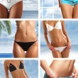 Royalty-Free Stock Photo: Collage of nine belly pictures