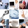 Business collage made of many different business pictures — Stock Photo