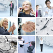 Collage made of some different  pictures about business life st — Foto de Stock