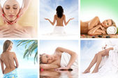 Spa and health collages made of some bright pictures — Stock Photo