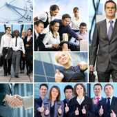 Bright business collage with the team of some — Stock Photo