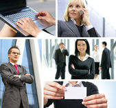Collage made of some business shoots — Stock Photo