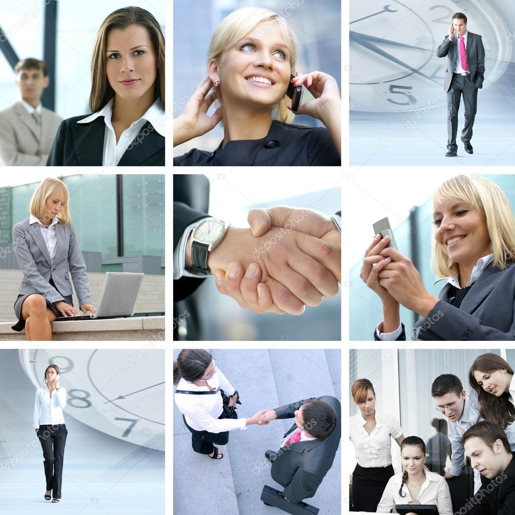 Business collage made of nine business pictures — Stock Photo #15041139