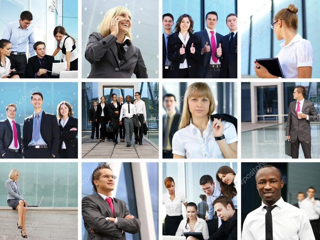 Bright business collage with the team of some — Stock Photo #15041891