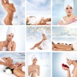 Stock Photo: Beautiful spa collage made of nine elements