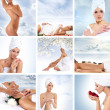 Stok fotoğraf: Beautiful spa collage made of nine elements