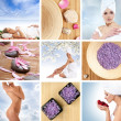 Beautiful spa collage made of nine elements — Stock Photo #15363817