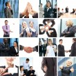 Business collage — Foto de stock #15363831