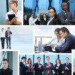 Business collage av några business bilder — Stockfoto