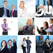 Business collage made of some business pictures — Stock Photo