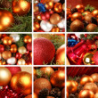 Christmas collage — Foto Stock