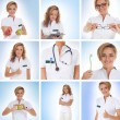Royalty-Free Stock Photo: Healthcare collage made of some pictures