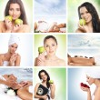Beautiful dieting collage made of some pictures — Stock Photo