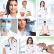 Healthcare collage made of some pictures — Stockfoto