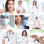 collage de soins de santé en quelques photos — Photo