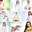 Stock Photo: Healthcare collage made of some pictures