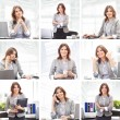 Business woman working in office - Stok fotoğraf