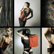 Great collection of fashion shoots — Stock Photo