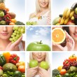 Beautiful collage about healthy eating and nutrition — Stock Photo #15364075