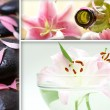 A spa treatment collage of three different images — Stock Photo