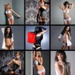 Fashion collage — Stock Photo