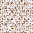 Great collage made of many pictures about health, dieting, sport — ストック写真