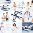Collage made of some medical elements - Stock Photo