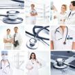 いくつかの医療の要素から成ってコラージュ — ストック写真