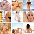 Great collage about health, beauty, sport, meditation and spa — Stock Photo #15364219
