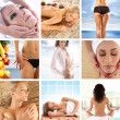 Great collage about health, beauty, sport, meditation and spa — Stock Photo