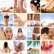 Great collage about health, beauty, sport, meditation and spa — Stock Photo #15364223