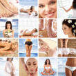 Great collage about health, beauty, sport, meditation and spa — Stock Photo #15364225