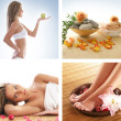 Collage made of some photos about health, beauty, spa and dieting — Stock Photo #15364235