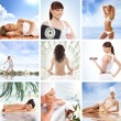 Spa and health collages made of some bright pictures — Stock Photo #15364243
