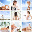 Stock Photo: Spand health collages made of some bright pictures