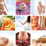 Beautiful spa collage — Stock Photo