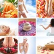 vackra spa collage — Stockfoto