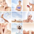 Beautiful spa and health collage made of many elements — Stock fotografie