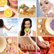 Beautiful collage about healthy eating and healthcare — Foto de stock #15364411