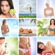 Spa and health collages made of some bright pictures — Stock Photo #15364425